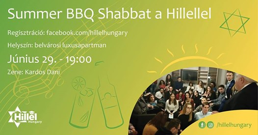 Summer BBQ Shabbat a Hillellel