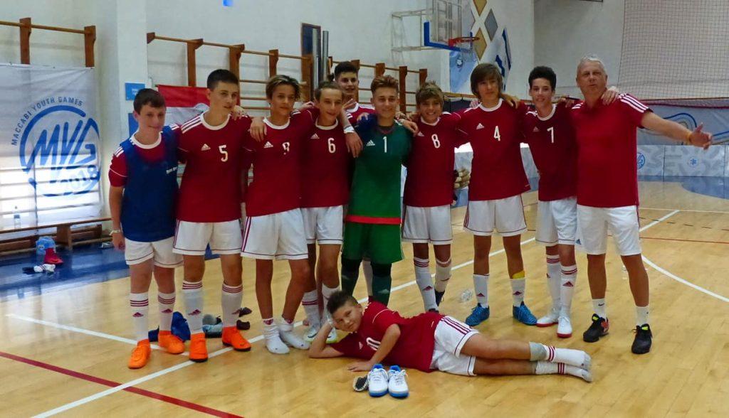 Bronzérmes lett a magyar futsalcsapat a Maccabi Ifjúsági Játékokon
