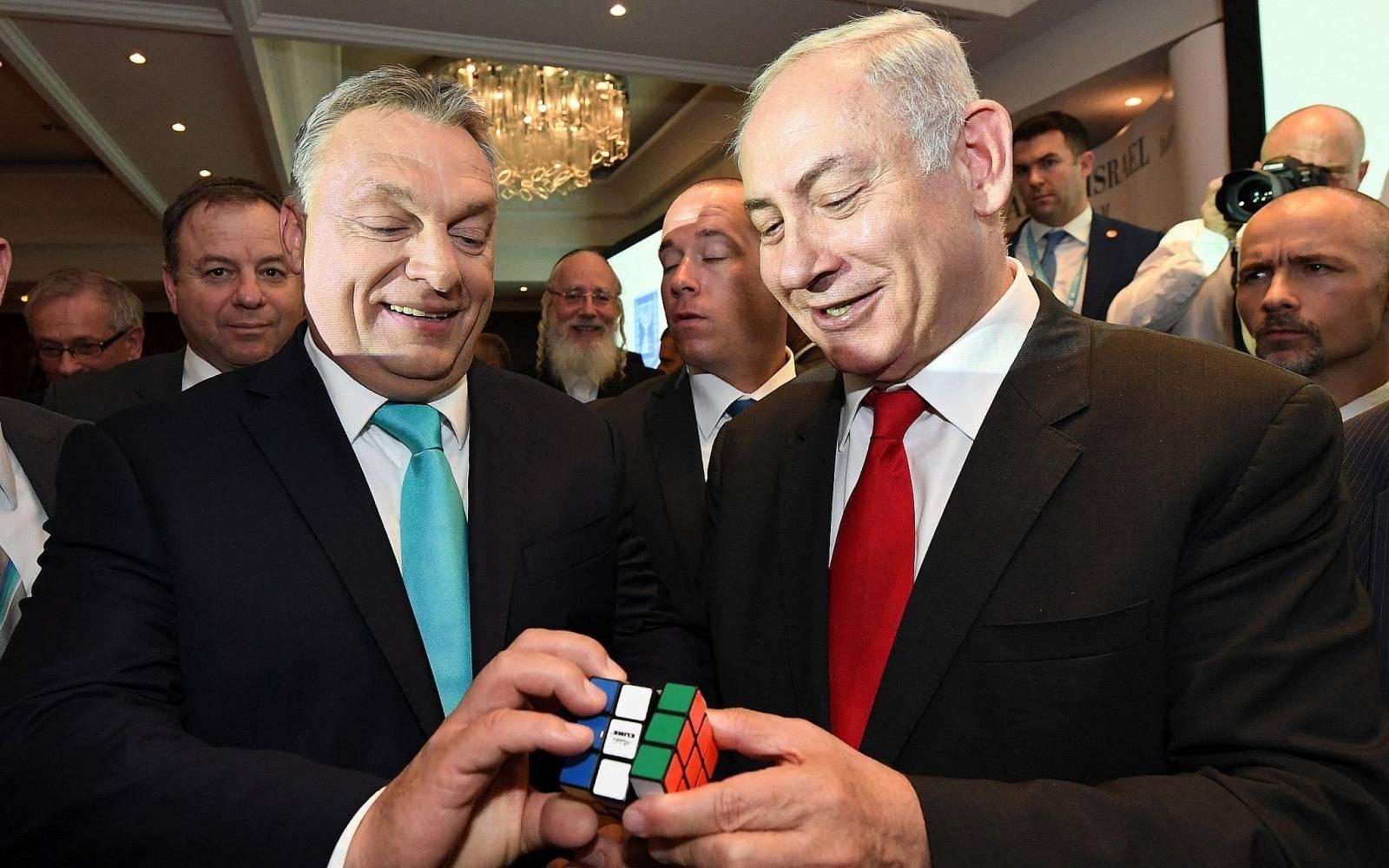 Orbán Viktor és Benjamin Netanjau az izraeli kormányfő tavalyi budapesti  látogatása idején