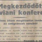 Cserbenhagyott zsidóság – 80 éve zárult az Éviani Konferencia