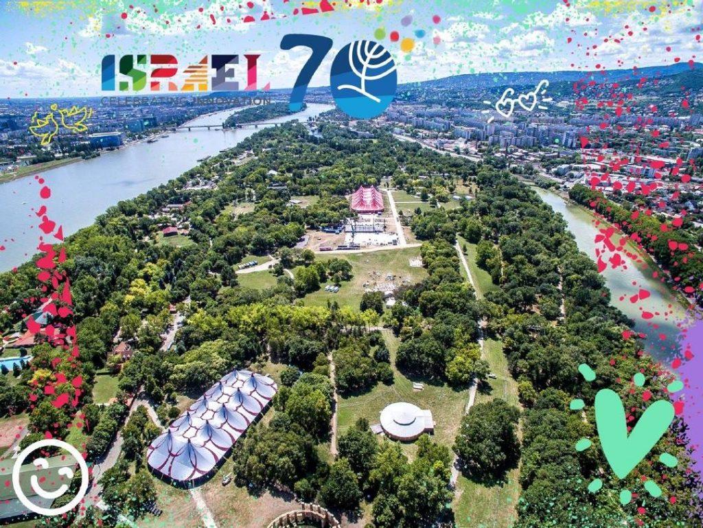 Izraeli program naptár a ma induló Sziget Fesztiválon