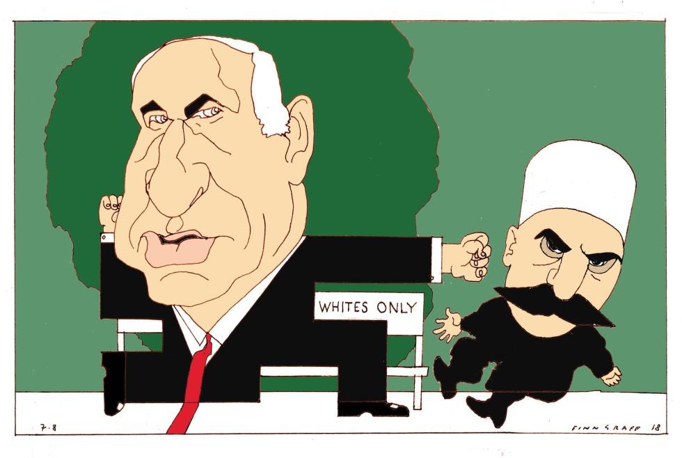 Botrány lett a horogkeresztes Netanjahu-karikatúrából
