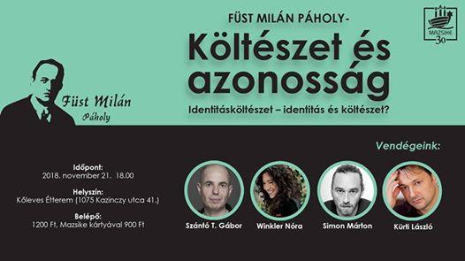 Füst Milán Páholy – Költészet és azonosság