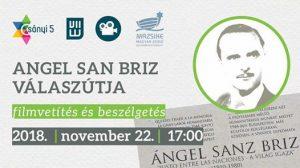 Angel San Briz válaszútja – filmvetítés és beszélgetés