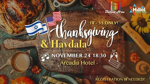 Thanksgiving + Havdala by Hillel & Bálint Ház