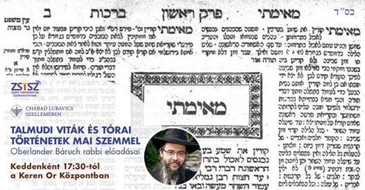 Talmudi viták és tórai történetek mai szemmel