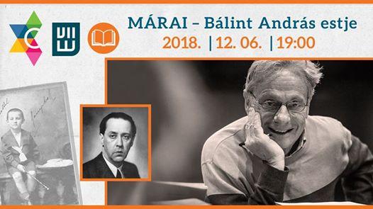 Bálint András – Márai est