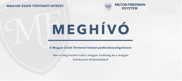 Pódiumbeszélgetés – Magyar Zsidó Történeti Intézet