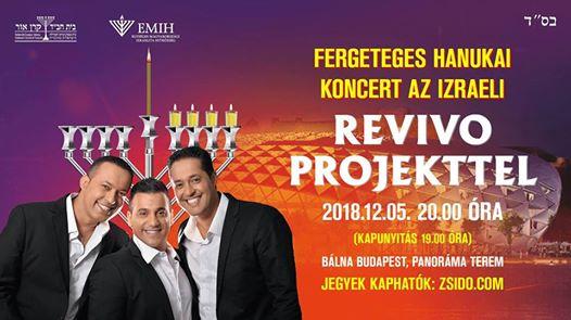 Hanukai nagykoncert az izraeli The Revivo Projecttel