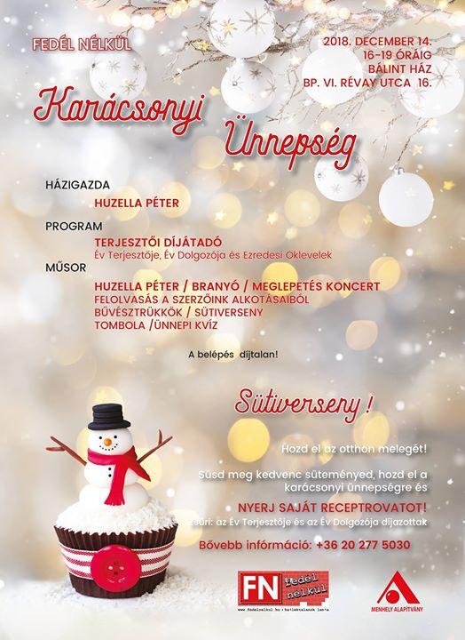 Fedél Nélkül Karácsonyi Ünnepség és Terjesztői Díjátadó