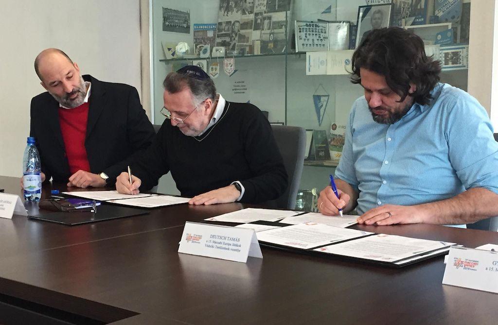 Együttműködési megállapodást kötöttek a Maccabi Európa Játékok szervezői a zsidó média képviselőivel