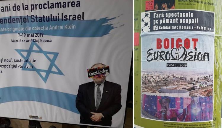 Elárasztották Kolozsvár utcáit az Eurovízió bojkottjára biztató plakátok