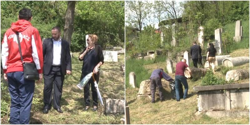 Muszlim fiatalok raktak rendbe egy zsidó temetőt Boszniában