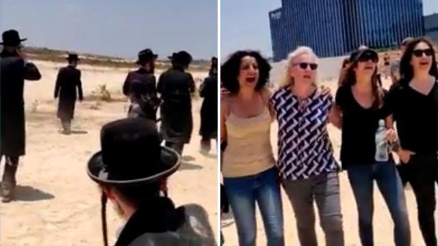 Éneklő nők kergettek szét tüntető haszid zsidókat
