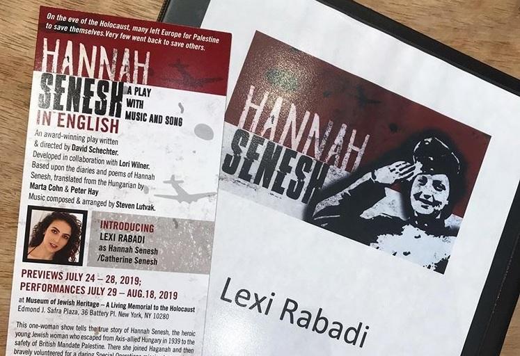 Szenes Hannáról szóló darab kerül az Off-Broadway műsorára