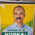 Felakasztott Dávid-csillagot rajzoltak egy ellenzéki képviselőjelölt plakátjára