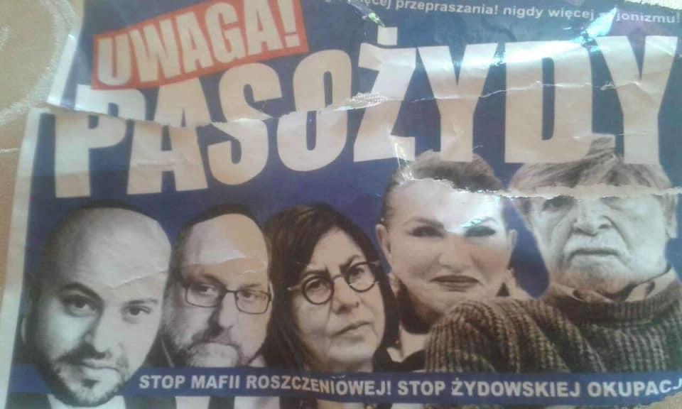 Zsidókat parazitáknak nevező poszterekkel kampányolnak Varsóban