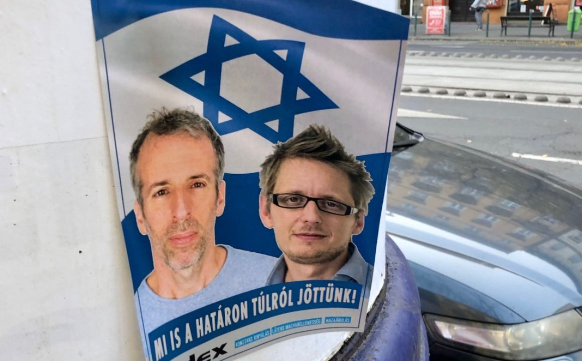 A rendőrség szerint nem merült fel bűncselekmény gyanúja az antiszemita plakátokkal kapcsolatban