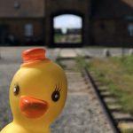 Gumikacsával fotózta le az auschwitzi koncentrációs tábor kapuját egy utazó blogger