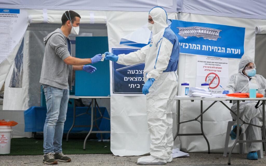 A koronavírus miatt speciális sátrakban szavazhatnak a karanténban lévő izraeliek