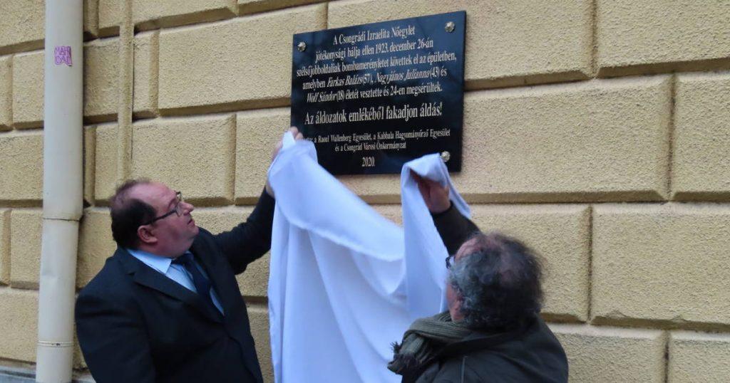 Közel 100 év elteltével kaptak emléktáblát az antiszemita merénylet áldozatai