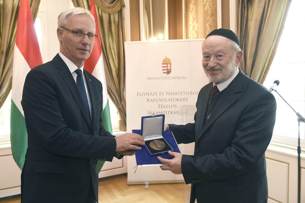 Kárpátaljai rabbi kapta idén a Scheiber Sándor-díjat