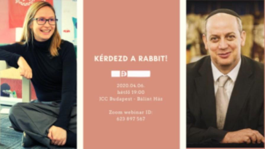 Kérdezd a rabbit – Dr. Verő Tamás rabbival