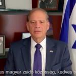 Együtt legyőzzük a járványt, üzente a magyar zsidóságnak az izraeli nagykövet