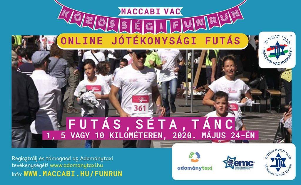 Közösségi FunRun – online jótékonysági futást szervez a Maccabi VAC