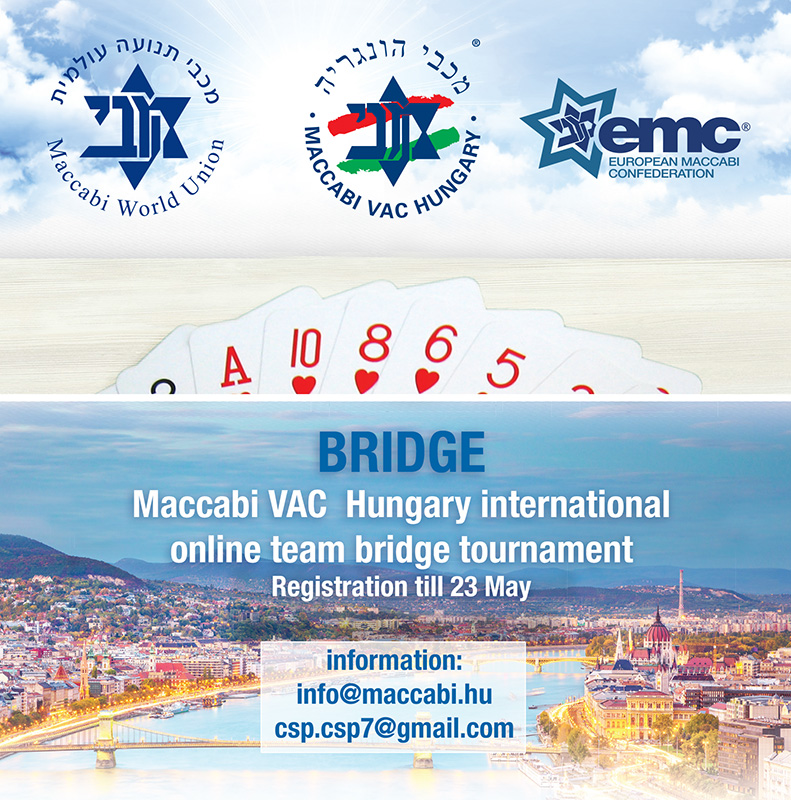 Maccabi VAC Hungary international online team bridge tournament