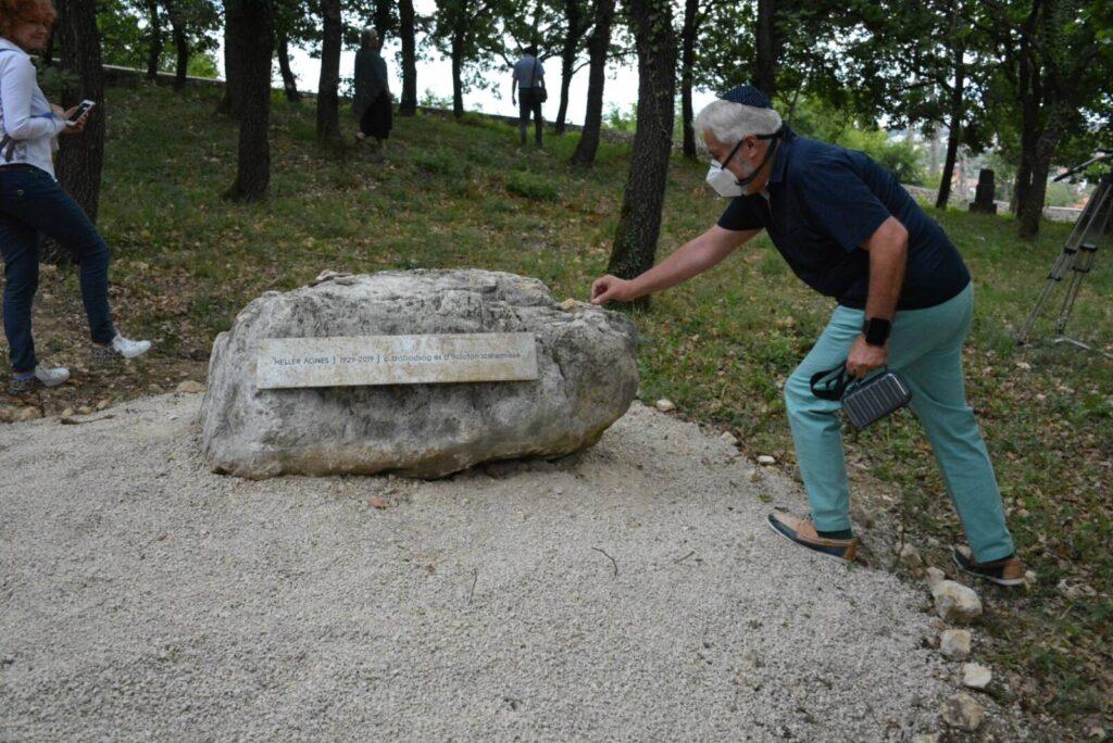 Megnyílt a Heller Ágnesről elnevezett emlékpark Balatonfüreden