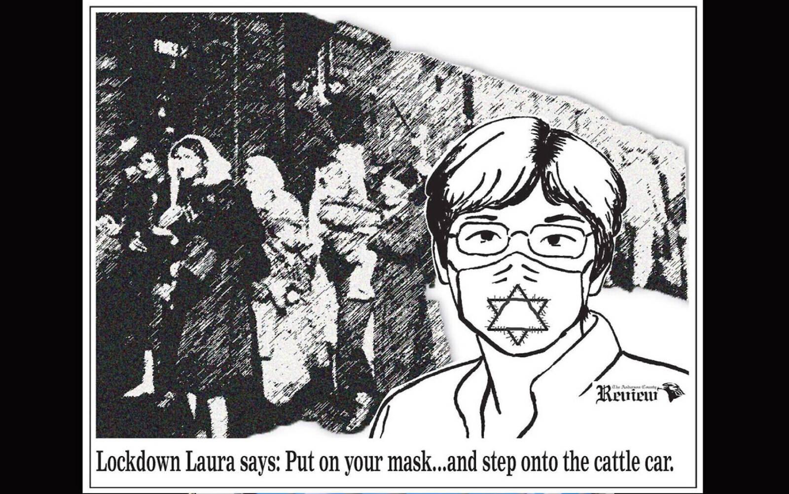 A holokauszthoz hasonlította egy kansasi lap a kormányzó maszkviselési rendeletét