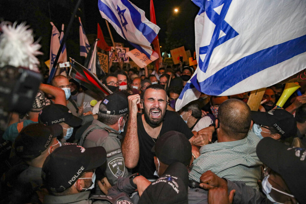 Elszabadultak az indulatok a Netanjahu-ellenes tüntetésen Jeruzsálemben