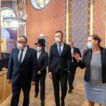 Szijjártó Péter a Rumbach utcai zsinagógába látogatott