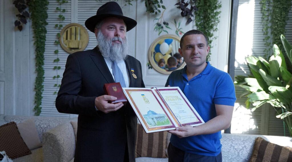Először kap rabbi magas szintű kitüntetést az ukrán parlamentben