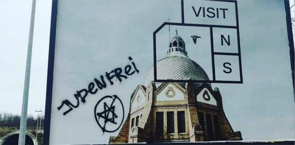 Antiszemita feliratok jelentek meg Újvidéken