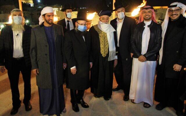Az Emírségek és Bahrein is részt vett a Siratófalnál rendezett hanuka ünnepségen