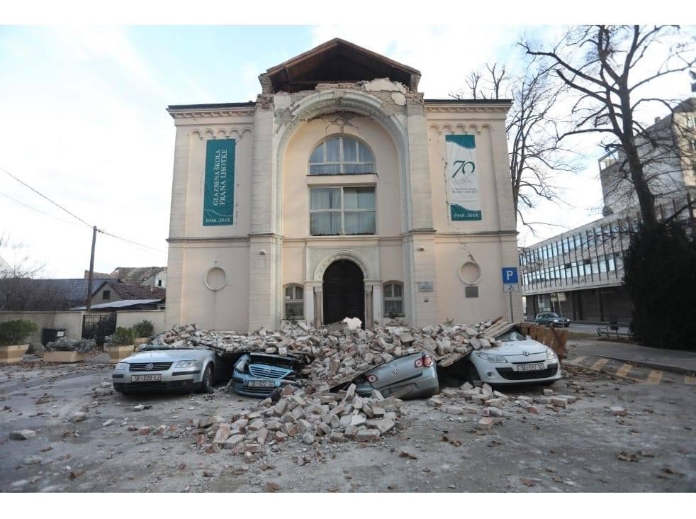 Egy zsinagóga is megrongálódott a horvátországi földrengésben