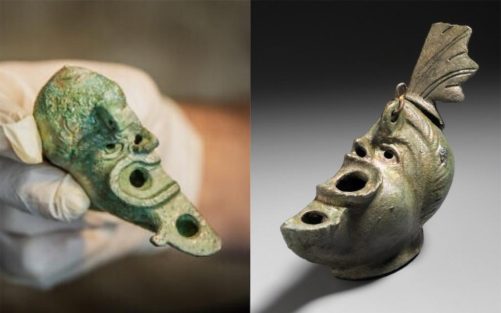 Jeruzsálemben került elő egy Budapesten felfedezett ókori mécses párja
