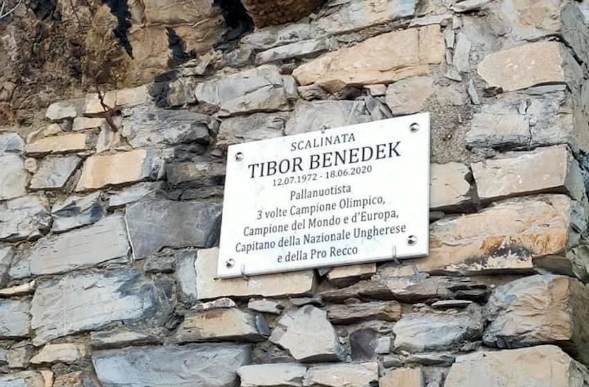 Benedek Tiborról neveztek el egy sétányt Olaszországban