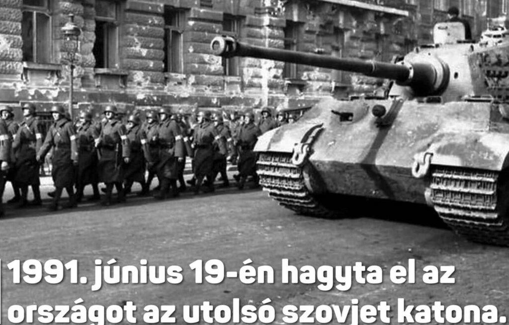 Masírozó nyilasokkal emlékezett egy fideszes képviselő a szovjet katonák kivonulására