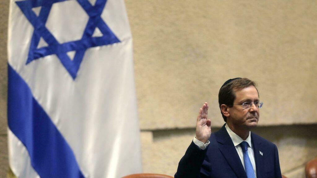 Letette a hivatali esküt Jichák Hercog, Izrael 11. államfője